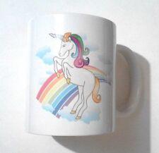 ENCHANTED RAINBOWS Unicorn Design MUG + UNICORN KEY RING NOVELTY SET