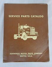 Vintage 1962 Kenworth Service Parts Catalog For Chassis 76577 76581 Model K 521