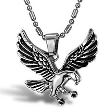 Exquisite Eagle Mens Necklace 316L Stainless Steel Pendant Bird PERFECT Gift !