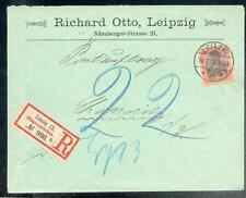 DR 1900 59 R-BRIEF POSTAUFTRAG LEIPZIG 100€(B0371