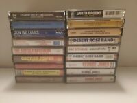 Vintage Country Cassettes lot of 19 Garth, Jones, Twitty, Kline