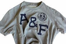 T-Shirt Abercormbie & Fitch - mis. L - col. Grigio logo A&F