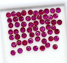 1.02 Cts Natural Ruby Round Cut 1.75 mm Lot 30 Pcs Lustrous Red Loose Gemstones