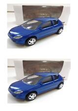 """Lot 2 Peugeot 206 Bleu 1/64 """"3 Inche"""" Diecast NOREV Produit NEUF !!"""