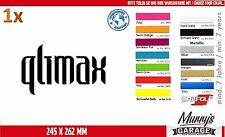 Qlimax 190 x 310mm Adesivo, Adesivo, Decal, autocollant, étiquette hard style