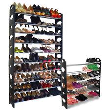 50 Pair 10 Tier Space Saving Storage Organizer Shoes Shelf Tower Rack