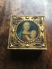 Madonna & Child, Virgin Mary & Jesus Wooden Box