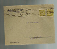 1923 Hamburg Germany Inflation Cover Chemnitz Deutsche Levante Linie 1 Billion