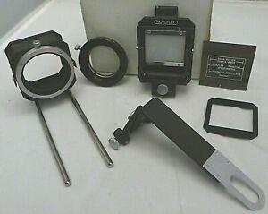 NovoFlex Focusing Rack Bellows Slide Copy +Adapter Lens Ring Set - Vintage