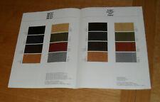 Mercedes Interior Colour Guide 1979-1980 SLC 450 SL R107 W123 230 280 CE 500 SEL
