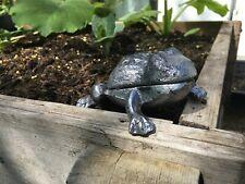 Hidden Key Storage / Garden ornament Frog cast in Lead