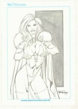 Emma Frost White Queen Holding Her Breasts Commission - art by Alex Miranda