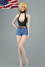 """1/6 Bodysuit Denim Shorts Set For 12"""" Figure PHICEN TBL Hot Toys KUMIK ❶USA❶"""