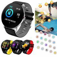 Wasserdicht Smart Watch Touchscreen Sport Pulsmesser Armband für iPhone Samsung