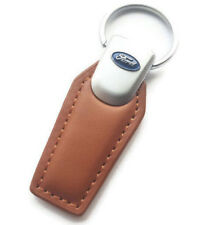 FORD LEATHER KEYRING KEYCHAIN SUPERB Quality Focus, Fiesta, Mondeo, Mustang