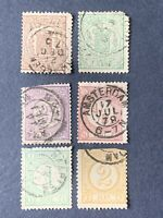 1869-76 Netherlands stamps, used