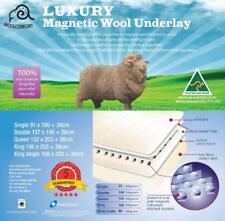 Aus Made Reversible Magnetic therapy Wool Underlay Underblanket Topper All Size