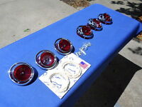 NEW 1965 Chevrolet Chevy Impala BelAir Biscayne Tail Light Lens & Ornament Lot