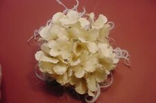 Originals, Floral Flowers Ostrich Feather Hair Clip or Brooch Pin White, Ivory