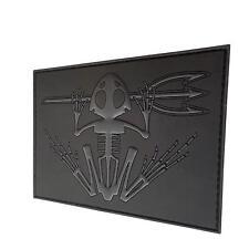 bone frog skull skeleton PVC rubber blackout ACU badge tag hook-and-loop patch