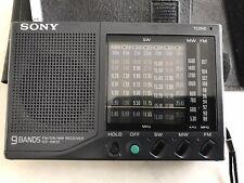 Sony ICF-SW22 FM/SW/MW 9 Band Radio Vintage With Instructions.