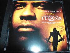 Remember The Titans Rare Walt Disney Original Soundtrack CD - Like New