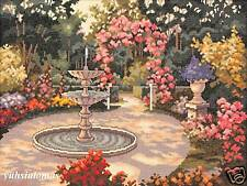 JCA Heritage Collection Cross Stitch Kit - Garden Fountain
