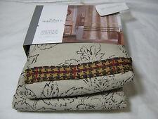 New Threshold Shower Curtain Tan Ruffle 72x72 Floral/Leaf NIP