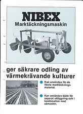 Farm Equipment Brochure - Nibex - Mulching Machine -  SWEDISH (F5090)