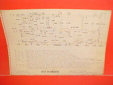 1957 PLYMOUTH BELVEDERE CONVERTIBLE FURY COUPE SAVOY PLAZA FRAME DIMENSION CHART