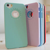Lace Heart Thin Vintage Hardback Shabby Shell Case Cover For iPhone 6 5S 5 4S 4