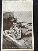 Vintage Postcard - Devon #A76 - RP Connaught Gardens & Beach, Sidmouth - 1951