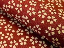 Japanese Fabric_Cotton_Dark red,Sakura_Half Yard,#m034