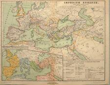 1892 MAP ROMAN EMPIRE SPAIN FRANCE BRITAIN IRELAND GERMANY GREECE SYRIA ITALY