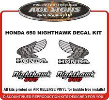 1984  HONDA 650 NIGHTHAWK  DECAL SET, reproductions  550