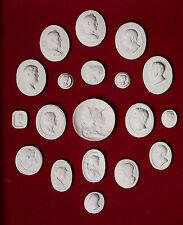 #5. 19 Grand Tour Cameos plaster intaglio Gems Medallions seal Classic Impronte