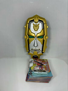Power Rangers Megaforce Deluxe Gosei Morpher Card Reader with 55 Cards - TESTED!