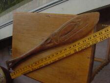 Antique Alaska Tlingit Indian Carved Ceremonial Dance Paddle