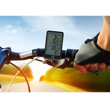 Automatic LCD Road Bike Bicycle Wireless Computer Speedometer Touch Screen