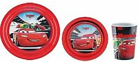 Disney Cars Melamine Mealtime 3 Piece Set Childrens Dinner Sets Bowl Plate Cup