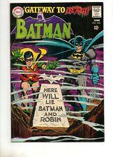 Batman #202 TOUGH in HIGH GRADE BLACK COVER! VF+ 8.0/8.5! DC 1968 Tombstone 121