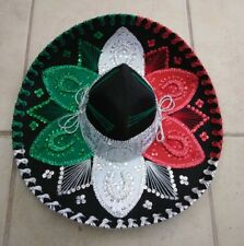 "YOUTH MEXICAN MARIACHI HAT , CHARRO , SOMBRERO , COSTUME , 19"" ONE SIZE , MULTI"