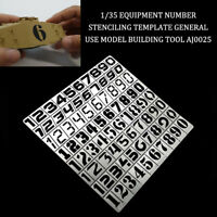 1/35 General Use Model Equipment Number Stenciling Template Building Tool
