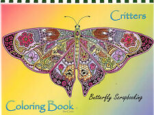 Coloring Book CRITTERS Animal Spirits 15 Pages EARTH ART Sue Coccia New