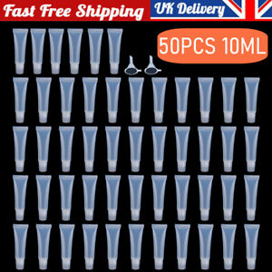 50X Empty Lip Gloss Tubes Containers Clear Balm Sunscreen Cream Cosmetic Tubes