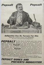 Antique advertising Pepsalt digestive salt 1899 Quack medicine Cleveland