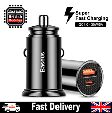30W Mini USB C Super Fast Charging Car Charger for Samsung Galaxy S20/ iPhone 12