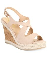 6b10cc5c24e Callisto Women s Brielle Espadrille Platform Wedge Sandals Blush 6M  90