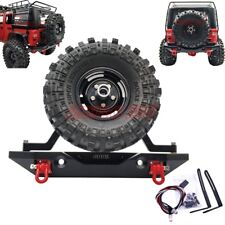 Metal Rear Bumper With LED Lights Shackle For Traxxas TRX-4 AXIAL SCX10 II JEEP