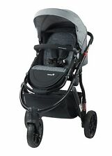 NEW SAFETY 1ST WANDERER 3 WHEEL STROLLER PRAM Newborn baby gift present GREY